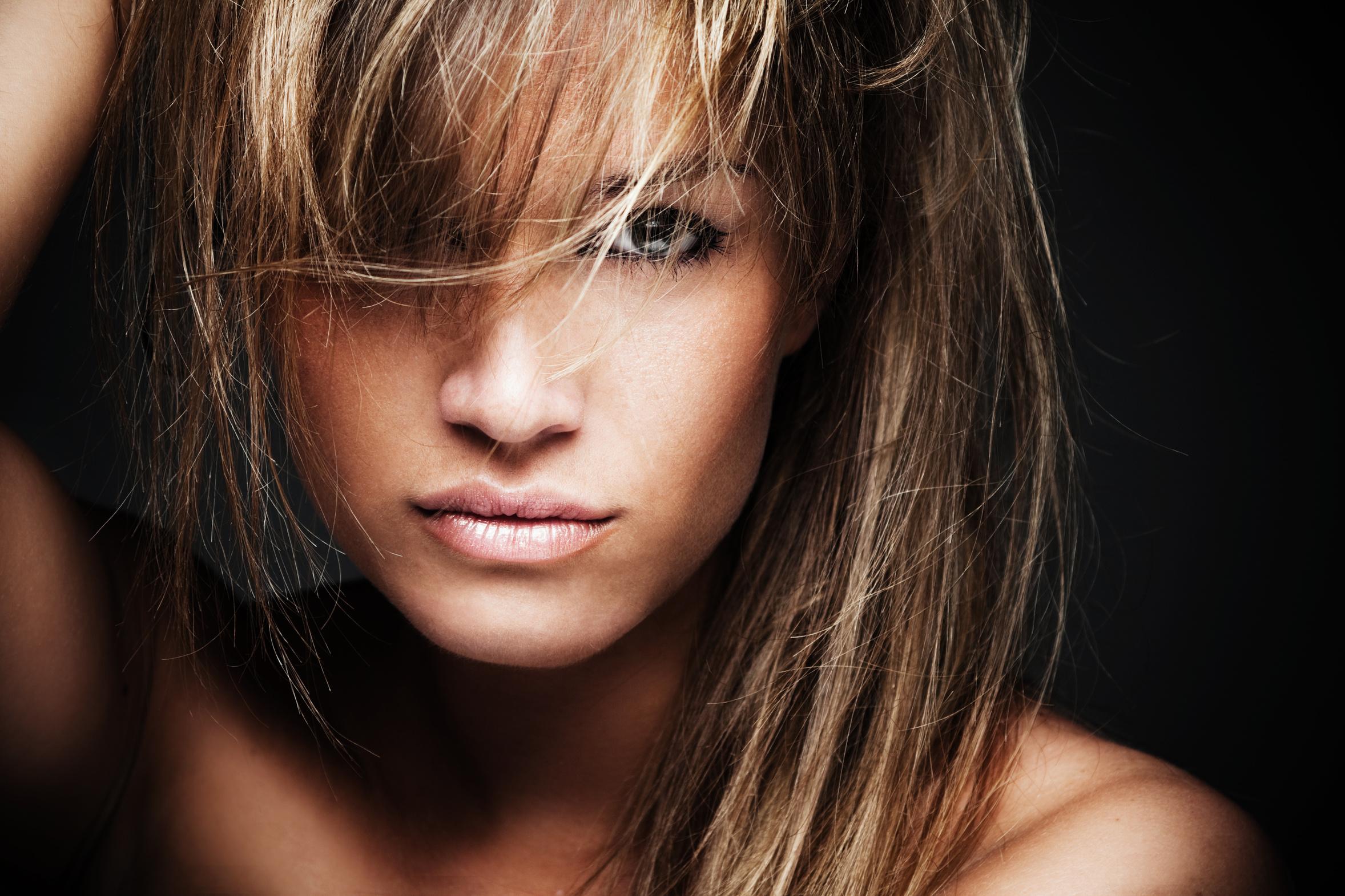 Kvinde med flot hår